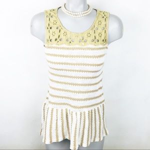 🌿ANTHROPOLOGIE A'reve Embroidered Tank Sz M NWOT